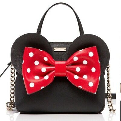 Kate Spade Disney Minnie Mouse Minnieture Maise Crossbody Bag Saffiano Leather