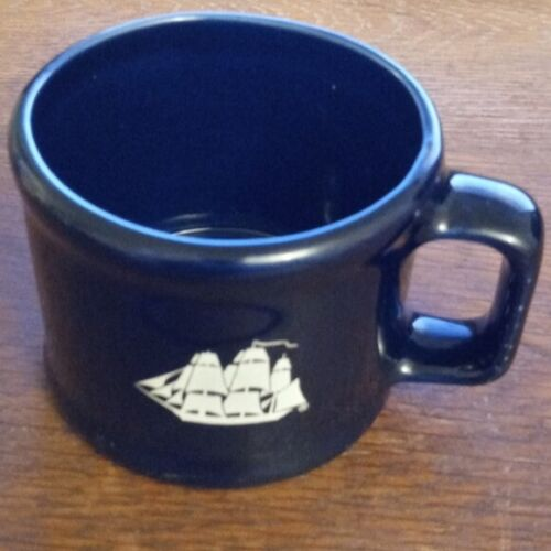Vintage 1985 Old Spice Shaving Mug Dark Blue Ceramic Rare