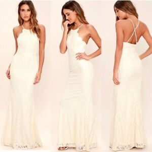 Never Worn Ivory Lace Wedding  Or Prom Dress