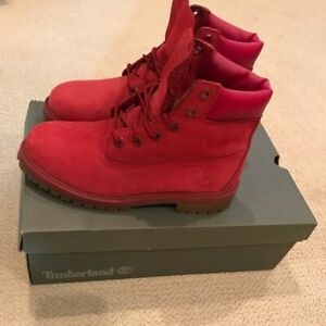 Bottes Timberland rouge taille 9