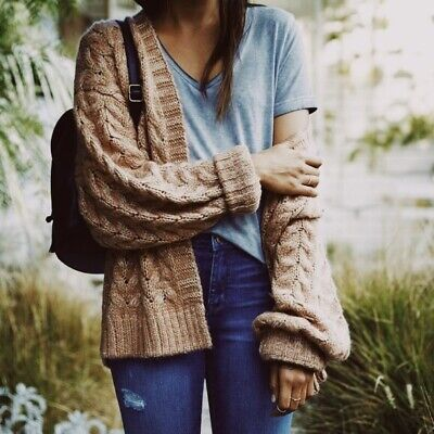 Kendall & Kylie Oversized Oatmeal Sweater urban outfitters boho hippie