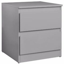 Ex display Hygena Inanna Bedside Chest - Grey