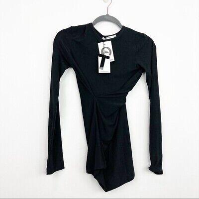 T By Alexander Wang Size XS Black Twist Long Sleeve Tee New Womens Tops