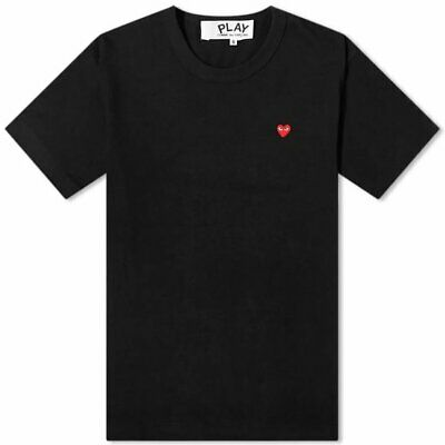 Comme des Garçons Play Black Short Sleeve T-Shirt S