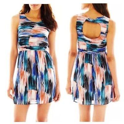 Bohemian-Chic Spritzer Kleid Up By Ultra Pink Größen 6, 8, 10, 16 Msrp ()