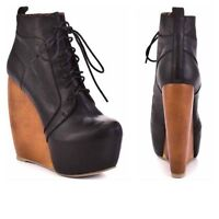 ZiGi Girl - Infinite black wedge platform bootie