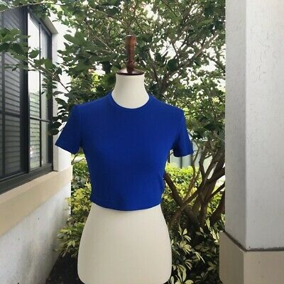 Versace Jeans Couture Blue Crop Top Size medium