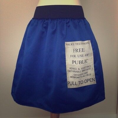 Tardis Halloween Costume (Dr. Who Tardis blue skirt premium custom Halloween costume Cosplay size sm)