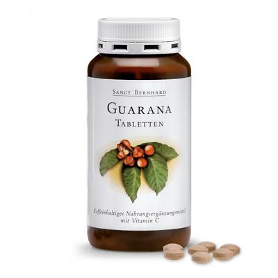 250 Guarana Tabletten von Sanct Bernhard (1 Dose), mit Vitamin C