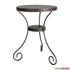 Black metal ikea side tables, set of two