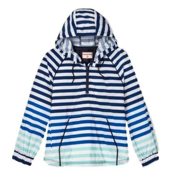 Hunter For Target Windbreaker Jacket Womens Blue White Striped Pullover SIZE XS Clothing, Shoes & Accessories