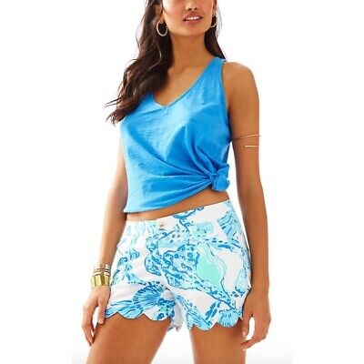NWT Lilly Pulitzer Resort White Barefoot Princess Buttercup Shorts, Sz 6](Princess Buttercup)