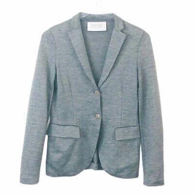 Harris Wharf London Jacket Blazer Coat Womens 40 / XS US Italy Knitted Gray