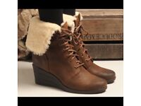 Ugg Zea Stout Boots Brown Size 4.5 (equivalent to UK 3.5) Wedge Heel