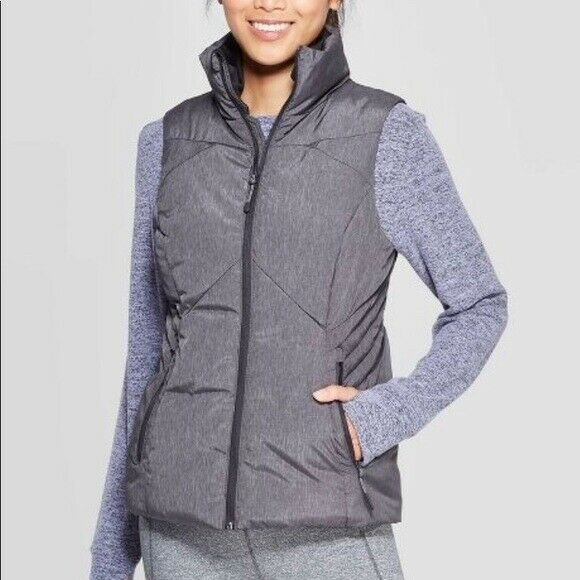 C9 Champions Women's Sleeveless Puffer Vest – Grey XS Clothing, Shoes & Accessories