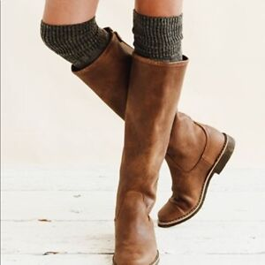 Roots Equestrian Boots, knee high tribe leather