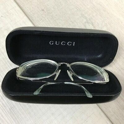 Vintage Gucci Prescription Glasses Horsebit Frame 70s 80s Original Case Silver