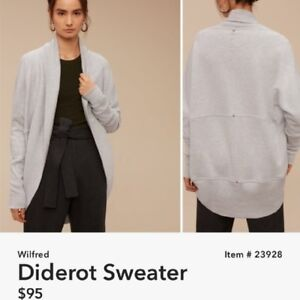 Wilfred Diderot Sweater Size M, Ashen