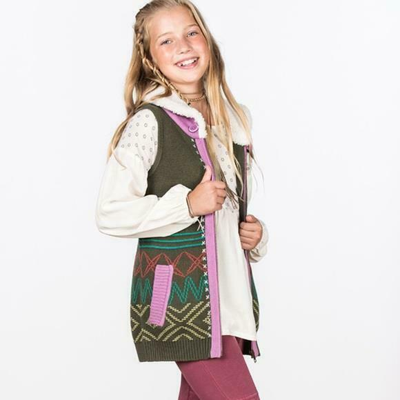 NWT Size 16  Matilda Jane 435 BIG IDEA SWEATER VEST Fur Collar  Make Believe NEW