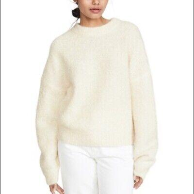 Le Kasha Baden Fuzzy Cashmere Sweater Light Beige Women's Small