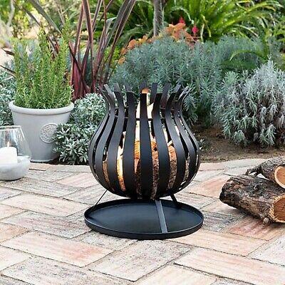 🔥Bulb Fire Basket Fire Pit Garden Patio Heater Chimenea New Boxed🔥FREE SHIP🚢