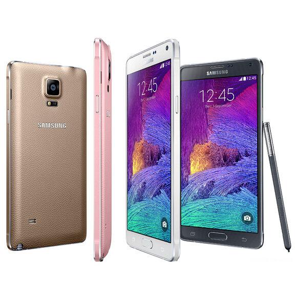 $132.99 - Samsung Galaxy Note 4 GSM N910A Factory Unlocked 32GB Smartphone Shadow LCD SRB