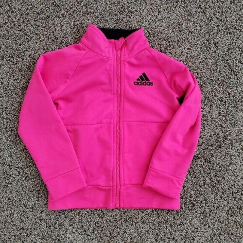 Adidas Girls Toddler Track Zip Up Jacket Pink 24M