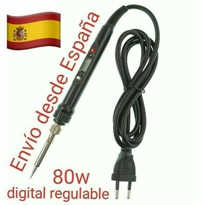 Soldador 80W-220V 110v Estaño Lapiz Electrico Digital Regulable
