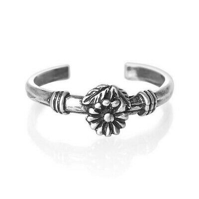 Flower Toe Ring Genuine Sterling Silver 925 Ship from USA Adjustable