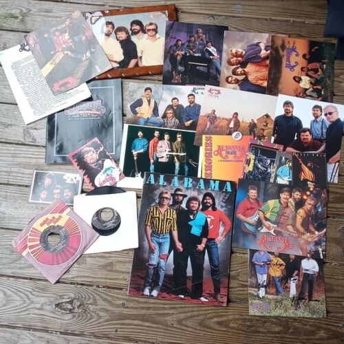 ALABAMA country music memoriblia lot vintage from collector