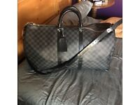 Louis Vuitton LV Designer Mens Travel Bag / Gym Bag/ Keepall 55cm