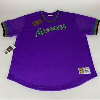 Arizona Diamondbacks MLB Purple Mitchell & Ness Jersey Mens XL New