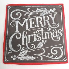 Pottery Barn Chalk Board Merry Christmas Pillow Cover Nwot