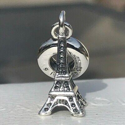 Eiffel Tower Dangle (NEW AUTHENTIC Pandora Eiffel Tower Paris Dangle Sterling Silver Charm)