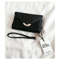 ALDO BLACK CELLPHONE WALLET FOR IPHONE4 - BRAND NEW