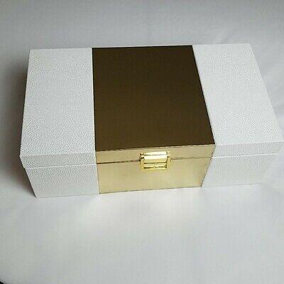 Large Decorative Storage Coffee Table / Dresser Box with Lined Interior Coffee Decorative Storage Box