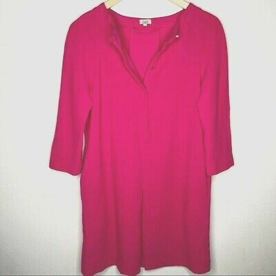 Anthropologie Hoss Intropia hot pink wool shift dress 34 / 2