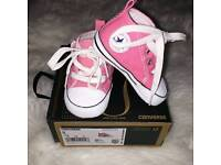 Brand new size 2 baby pink converse