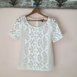 White Sheer Crochet Tee (American Eagle Outfitters) West Island Greater Montréal image 1