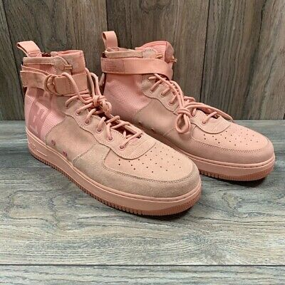 best cheap 2a553 f02d2 New Nike SF Air Force 1 Mid Suede Coral Stardust Special Forces AJ9502-600  Sz15