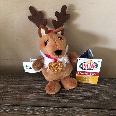 Christmas The Elf On The Shelf Pet Reindeer Plush Mini Clip-On New ornament