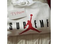 Supreme X Jordan hoodie medium size M comes with receipt