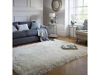 Jewel Shaggy Rug SILVER 200cm x 290cm from Dunham RRP £280