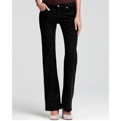- J Crew Size 0 Short Corduroy Pants Black Favorite Fit Bootcut 5 Pocket