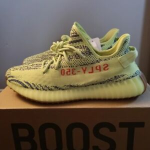 0346b1245f75a2 NEW Yeezy Semi Frozen Yellow size 9