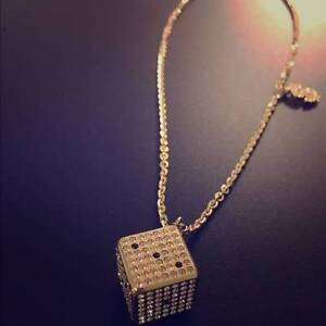 Swarovski gold dice necklace Adelaide CBD Adelaide City Preview