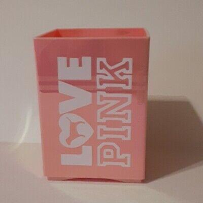 Love Pink Pencil Holder Holographic Pink Pen Organizer Desk Office Pen Holder