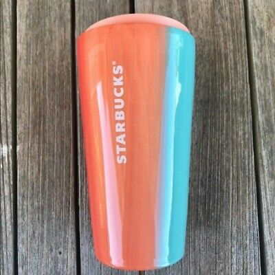 Starbucks Summer 2020 Tumbler Ceramic Coffee Mug Cup Lid 12 Fl Oz