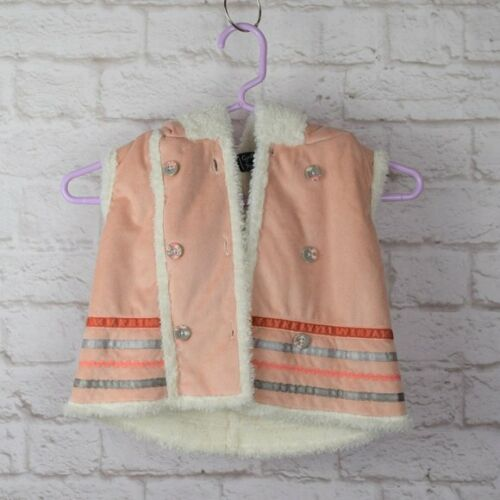 Cynthia Rowley Hooded Vest Adorable Sherpa Lined Vest Toddler Kids Girls 2T