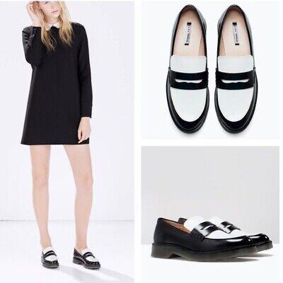 Zara Trafaluc Two tone Combination Mocassin shoe size 6 eu36